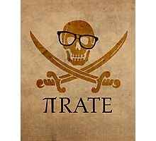 Pirate Humor Math Number Pi Nerd Poster Photographic Print