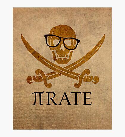 Pirate Humor Math Number Pi Nerd Poster Photographic Print