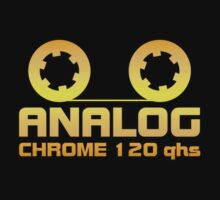 Analog  Chrome Gold  decoration Clothing & Stickers by goodmusic