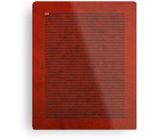 Digits of Pi Cool Math Poster Metal Print