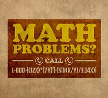 Math Problems Hotline Cool Funny Math Poster by scienceispun