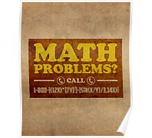 Math Problems Hotline Cool Funny Math Poster Poster