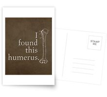 I Found This Humerus Humor Pun Medical Science Poster Greeting Card