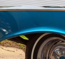 Chevrolet Blue and White Classic Bel Air Muscle Car Sticker