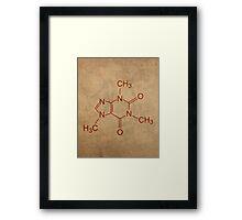 Caffeine Molecule Nerd Coffee Lover Cool Poster Framed Print
