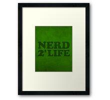 Nerd 4 Life Math Nerd Humor Pun Poster Framed Print