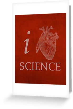 I Heart Science Poster by scienceispun