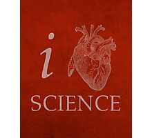 I Heart Science Poster Photographic Print
