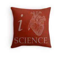I Heart Science Poster Throw Pillow