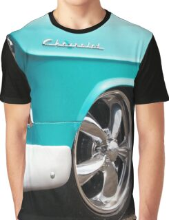 Baby Blue American Chevrolet Muscle Car Graphic T-Shirt