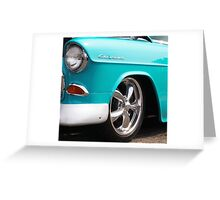 Baby Blue American Chevrolet Muscle Car Greeting Card