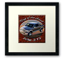 Dodge Ram Truck King of the Road Framed Print