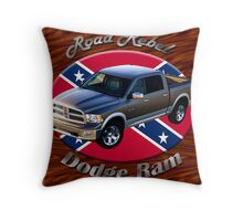 Dodge Ram Truck Road Rebel Throw Pillow