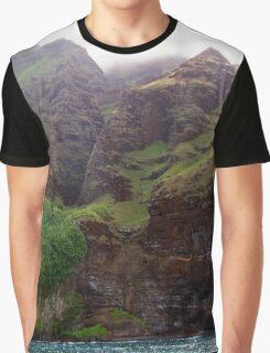 Rugged Na Pali Coast and Mountains on Kauai - Hawaii Graphic T-Shirt