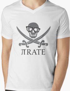 Pirate Humor Math Number Pi Nerd Shirt Mens V-Neck T-Shirt