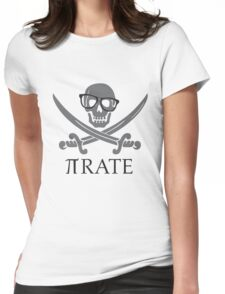 Pirate Humor Math Number Pi Nerd Shirt Womens Fitted T-Shirt