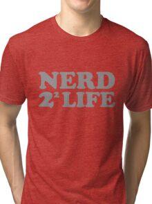 Nerd 4 Life Math Nerd Humor Pun Shirt Tri-blend T-Shirt