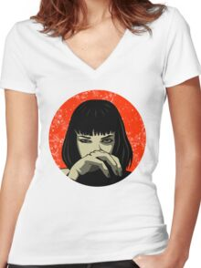 Mia Women's Fitted V-Neck T-Shirt