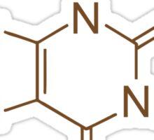 Caffeine Molecule Nerd Coffee Lover Cool Shirt Sticker