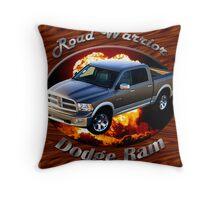 Dodge Ram Truck Road Warrior Throw Pillow