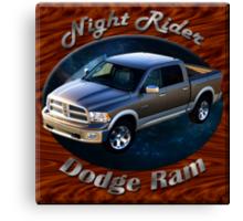 Dodge Ram Truck Night Rider Canvas Print