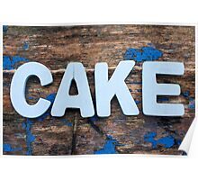 Cake Letters Poster