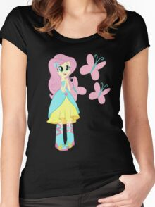 My little Pony - Fluttershy Women's Fitted Scoop T-Shirt