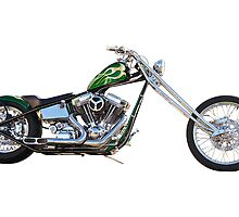 H.D. Chopper Profile on White by DaveKoontz