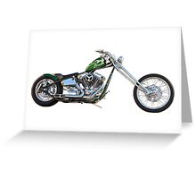 H.D. Chopper Profile on White Greeting Card