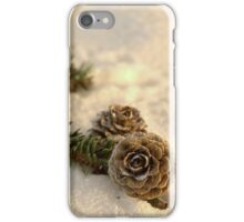 Winter Pinecones iPhone Case/Skin