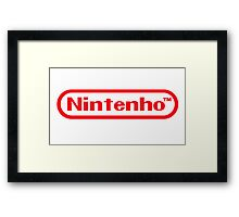 Nintenho Parody Logo Video Gamer Framed Print
