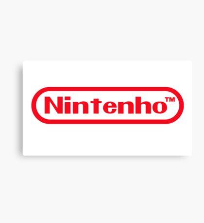 Nintenho Parody Logo Video Gamer Canvas Print