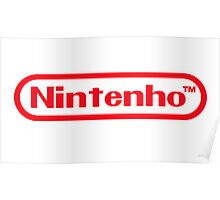 Nintenho Parody Logo Video Gamer Poster