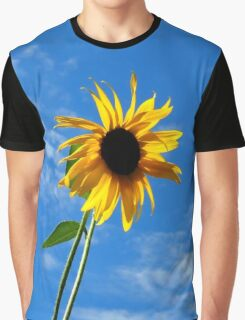 Lone Yellow Sunflower against the Summer Blue Sky Graphic T-Shirt