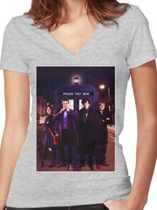 Wholock Shirt 3 Women's Fitted V-Neck T-Shirt
