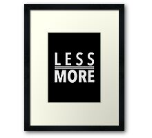 Less Is More White Mies Van Der Rohe Architecture Tshirt Framed Print