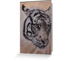 Tiger on Wood Greeting Card