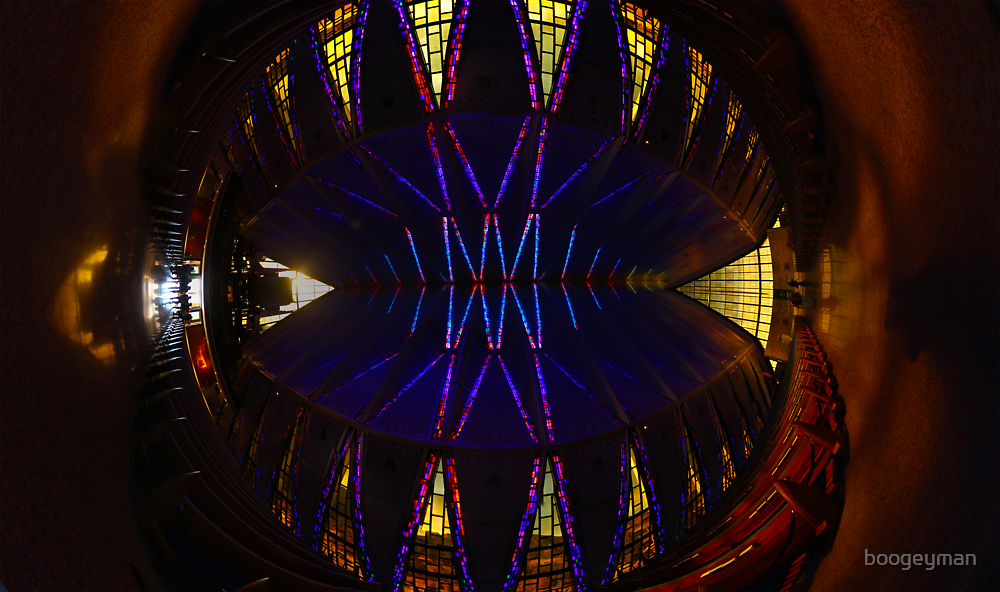 Ceiling of the United States Air Force Academy Chapel by boogeyman