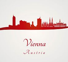 Vienna skyline in red by paulrommer