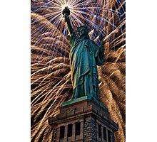 Liberty Fireworks Photographic Print