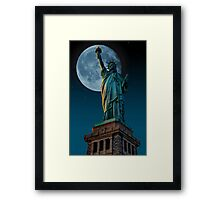 Liberty Moon Framed Print