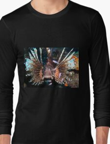 Caribbean Lion Fish guarding the Coral Reef Long Sleeve T-Shirt