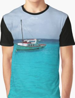 Sailing Serenity in the Azure Waters of the Caribbean Graphic T-Shirt