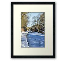 Cold start Framed Print
