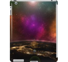 Geek Earth Seen From Space With Colour Galaxy iPad Case/Skin