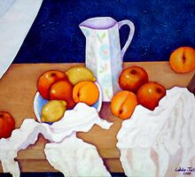 Still life in honor of Cezanne by Madalena Lobao-Tello