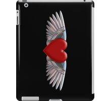 Heart with chromed wings illustration iPad Case/Skin