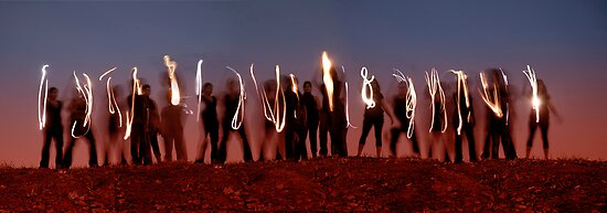 Light Painting by Carole Anne Ferris