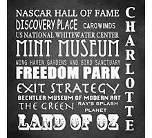 Charlotte North Carolina Famous Landmarks Photographic Print