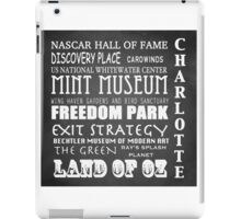 Charlotte North Carolina Famous Landmarks iPad Case/Skin